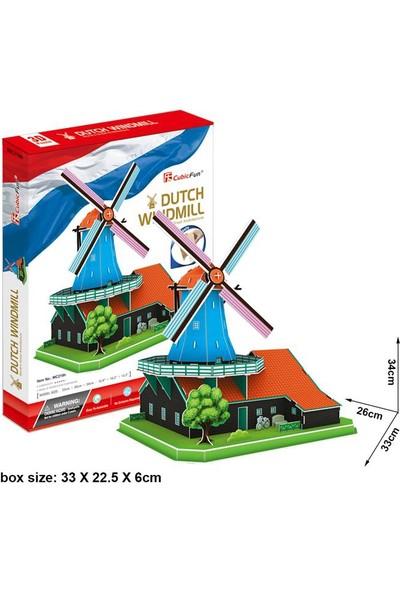 Cubic Fun 3D Puzzle 71 Parça Yel Değirmeni - Hollanda