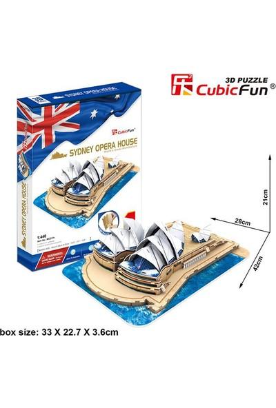 Cubic Fun 3D Puzzle 58 Parça Sydney Opera Binası - Avustralya