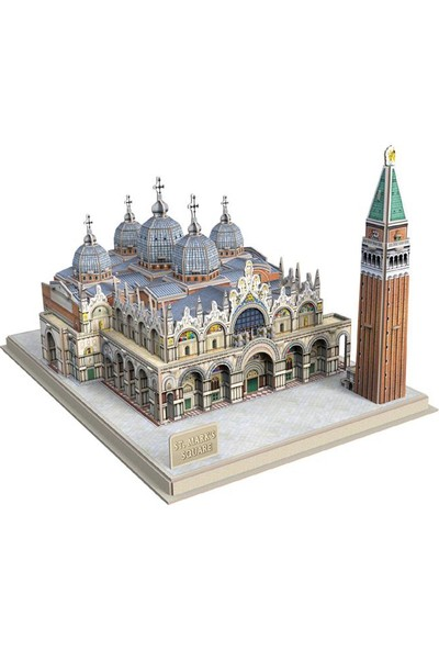 Cubic Fun 3D Puzzle 107 Parça San Marco Meydanı - İtalya