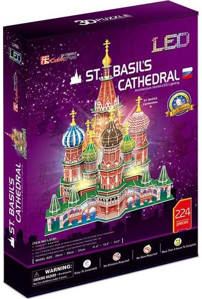 "Cubic Fun 3D Puzzle 224 Parça St. Basil""S Katadrali - Rusya (Led Işıklı)"