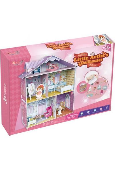 Cubic Fun 3D 60 Parça Çocuk Puzzle Küçük Artistin Evi