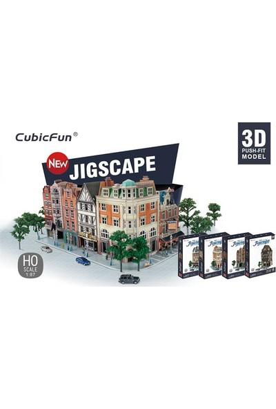 Cubic Fun 3D Puzzle Jigscape Tudor Restoran Binası Londra