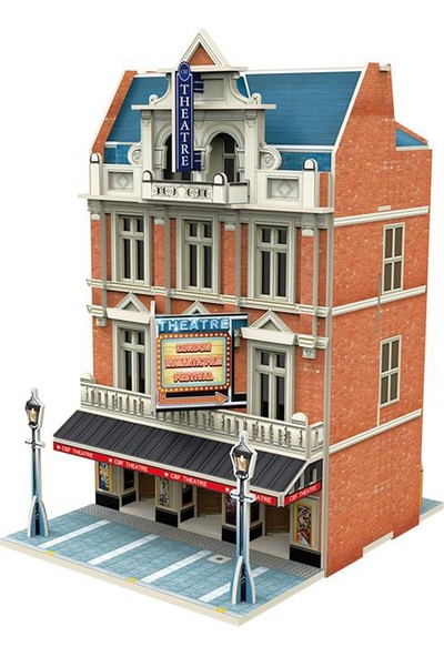 Cubic Fun 3D Puzzle Jigscape Tiyatro Binası Londra