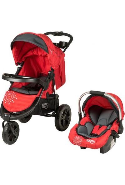 Sunny Baby 338 Partner Travel Set Bebek Arabası Kırmızı