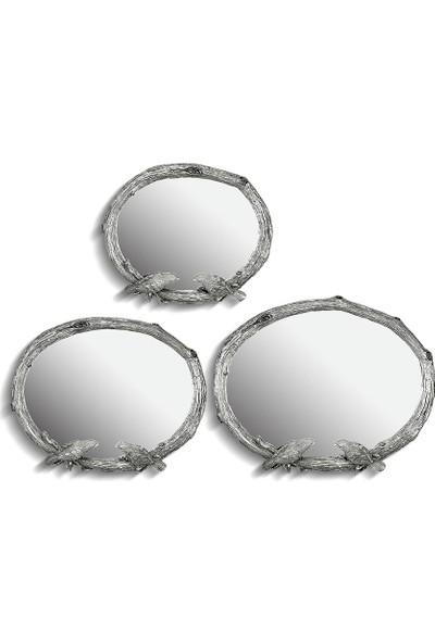 Noble Life 3'lü Birds Gümüş Ayna