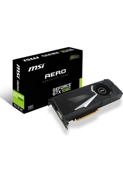 MSI AERO Nvidia GeForce GTX 1080 8GB OC 256Bit GDDR5X (DX12) PCI-E 3.0 Ekran Kartı GTX 1080 AERO 8G OC