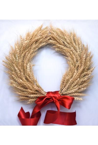 Dekonatur Buğday Başak Kapı Süsü ( Kurdeleli ) )