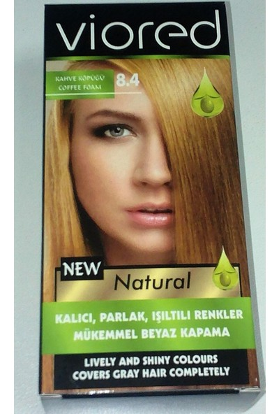 Viored Natural Saç Boyası 8.4 Kahve Köpüğü