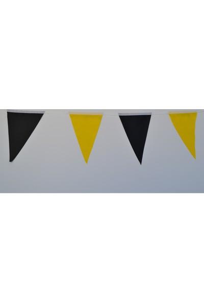 Bayrakal Süsleme, Açılış Bayrağı Üçgen Sarı-Siyah