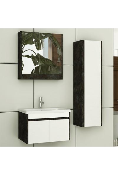 NPlus Bolt 65 cm Banyo Dolabı - Beyaz
