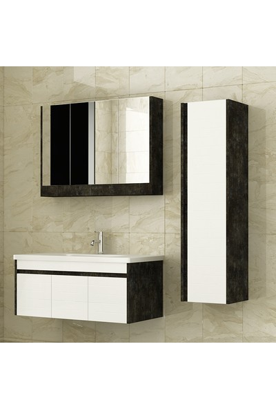 NPlus Bolt 100 cm Banyo Dolabı - Beyaz