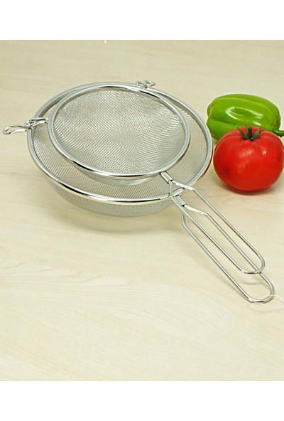 Kitchen Love 2 Adet Paslanmaz-Çelik 18+14 cm Saplı Süzgeç