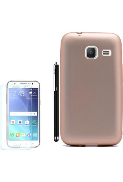 Gpack Samsung Galaxy J1 Mini Kılıf Premier Silikon Kapak +Kalem +Cam