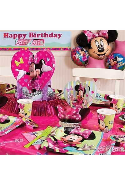 Partypark Minnie Mouse Eko Parti Seti (16 Kişilik)