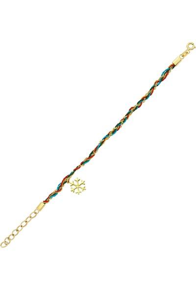 Goldstore 14 Ayar Altın Kartanesi Şans Bilekliği Gb30695