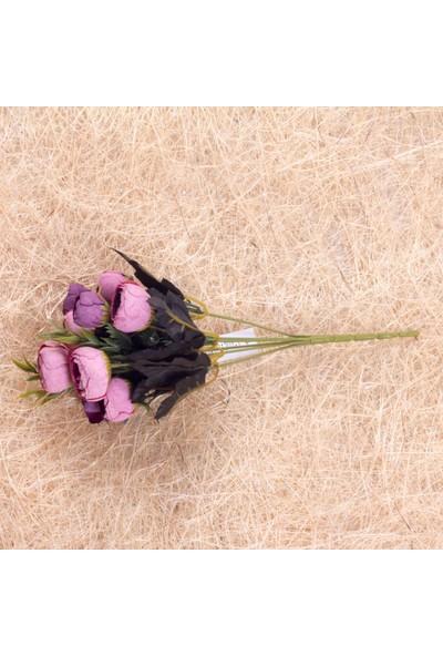 Benim Kınam Yapay Çiçek Mor Lila Şakayık Demeti 9 Adet Eren Gülleri Vardır