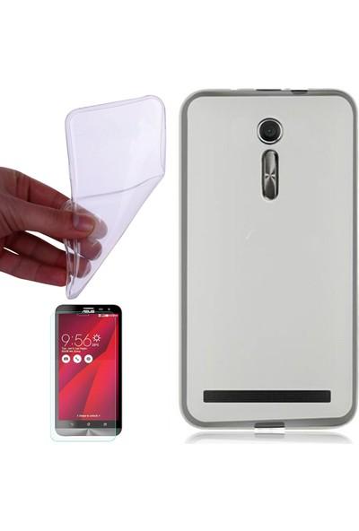 Gpack Xiaomi Red Mi Note 3 Kılıf 02mm Silikon Arka Kapak Renksiz +Cam