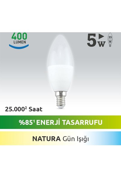 NextLED (Next&NextStar) E14 5W NATUREL (4000 K) Led Ampul