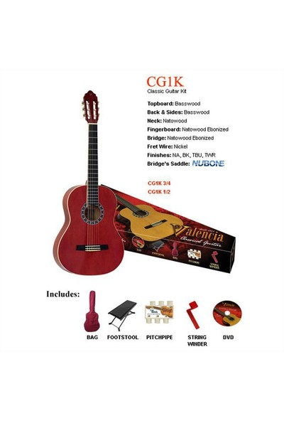 Valencia Cg1Ktwr Klasik Gitar Seti