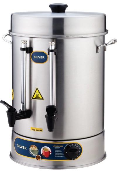 Sılver 250 Bardak 23 L Çay Makinası - Plastik Musluklu