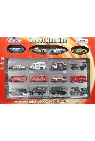 Sunman Street Machine 16'Lı Metal Oto Seti