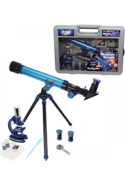 Sunman Çantalı Teleskop ve Mikroskop Seti
