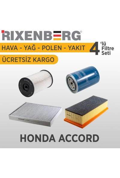 Rixenberg Filters Honda Accord 4'Lü Filtre Seti