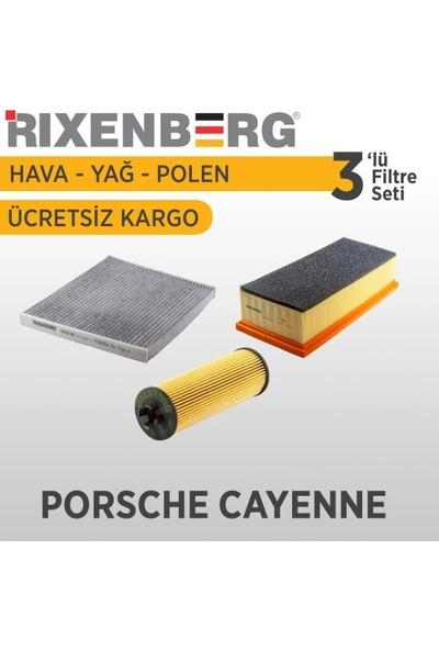Rixenberg Filters Porsche Cayenne 3'Lü Filtre Seti