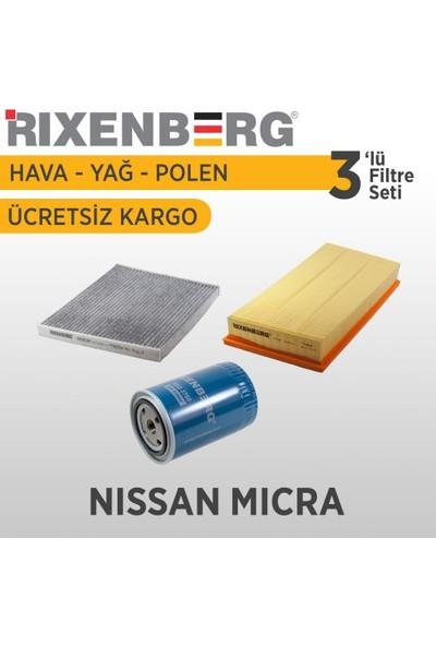 Rixenberg Filters Nissan Micra 3'Lü Filtre Seti