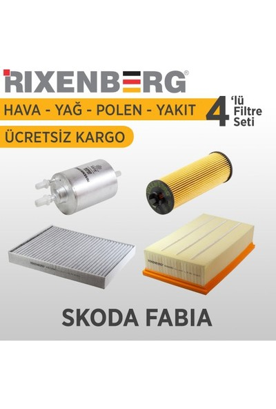 Rixenberg Filters Skoda Fabia 4'Lü Filtre Seti