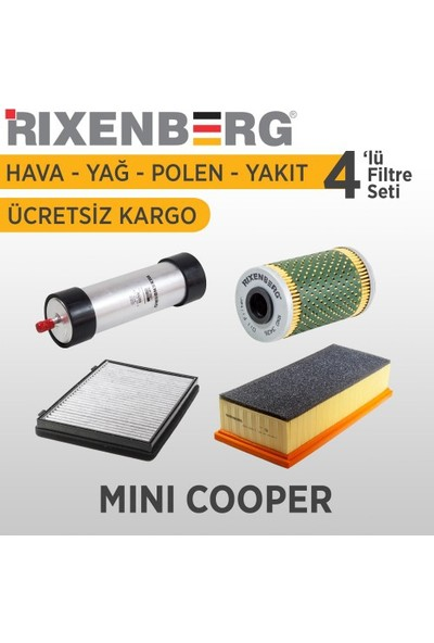 Rixenberg Filters Mini Cooper 4'Lü Filtre Seti