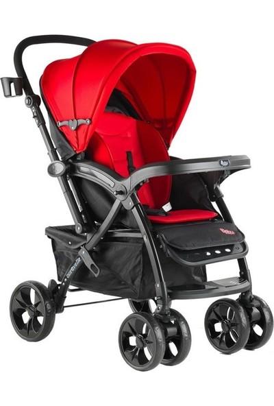 Babyhope Caravelle Çift Yönlü Bebek Arabası Kırmızı - Siyah