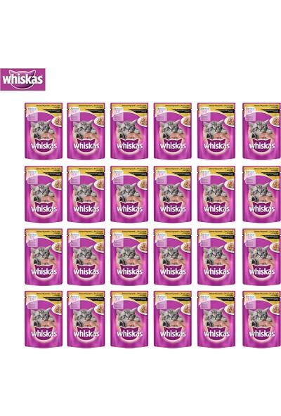 Whiskas Pouch Yavru Kümes Hayvanlı Yaş Kedi Maması 100 Gr x 24 Adet