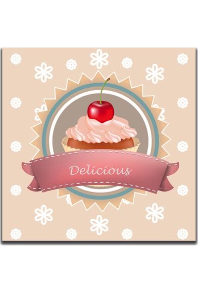 Delicious Cupcake Dekoratif Tablo MTF68