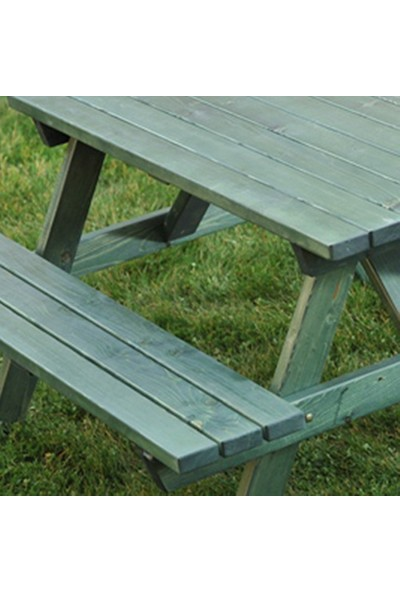 Piknik Masası Yeşil-6 Kişilik