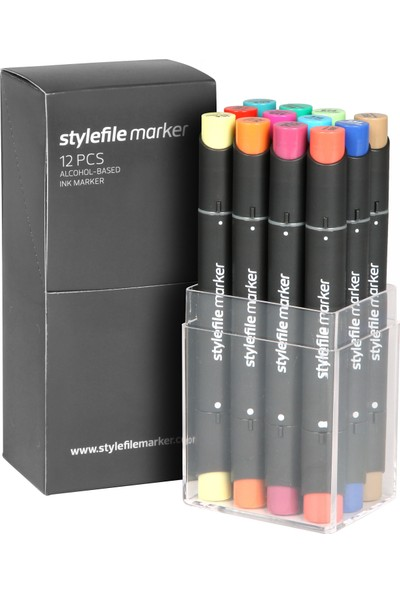 Stylefile Marker 12Pcs Set Main B