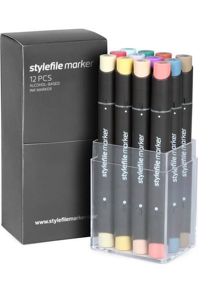 Stylefile Marker 12Pcs Set Main C