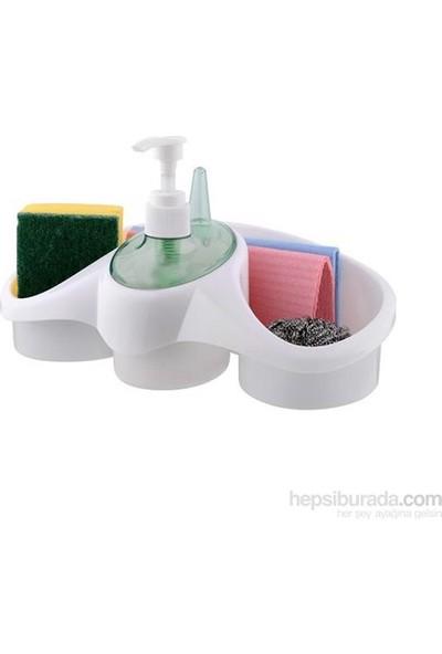 Cix Sıvı Sabunluk Sünger Hazneli