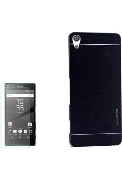 Gpack Sony Xperia Xa Kılıf Sert Arka Kapak Motomo Kılıf +Cam