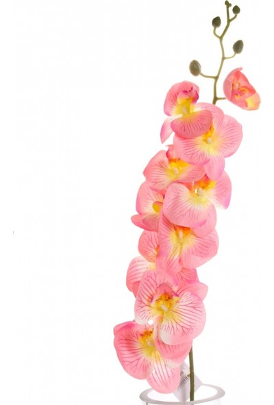 Yedifil Büyük Orkide Pembe Yapay Çiçek