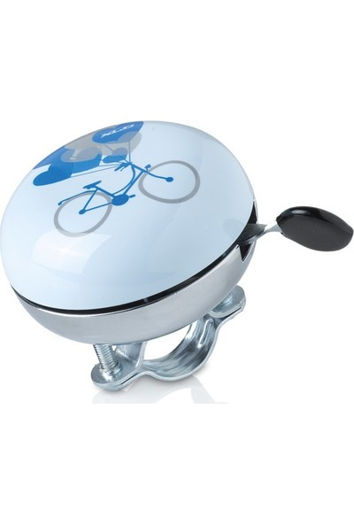 Xlc Zil Din-Don Model Nh-B688Ss Dd-M10 Açık Mavi Bisiklet Baskılı