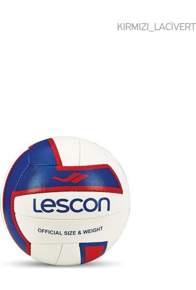 Lescon La-2564 Kırmızı Lacivert Voleybol Topu 5 Numara