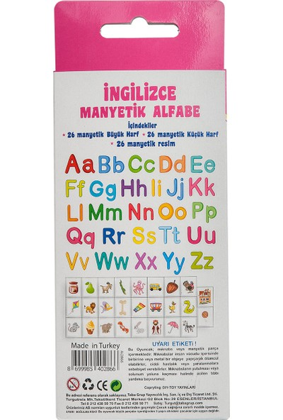 Diytoy Manyetik İngilizce Alfabe