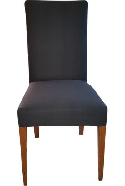 Akçağ Düz Sandalye Kılıfı Füme Düz