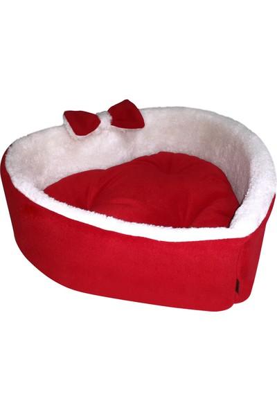 Bronza Heart Kedi ve Köpek Yatağı Kırmızı