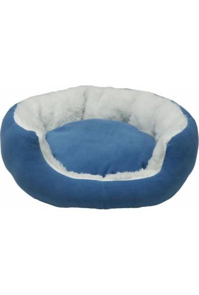 Bronza Poli Kedi ve Köpek Yatağı Mavi