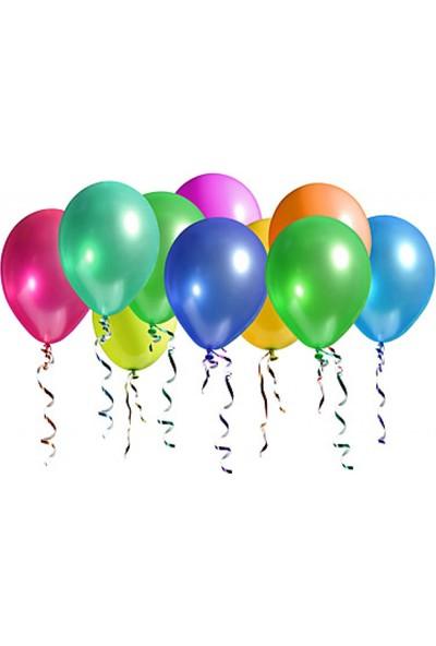 Bebekparti Metalik Karışık Renk Balon 10 Adet