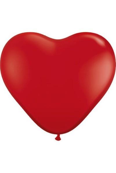 Bebekparti Kırmızı Kalp Balon 100 Adet
