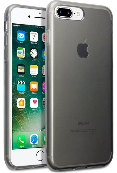 Case 4U Apple iPhone 7 Plus-8 Plus Kılıf Ultra İnce Silikon Füme