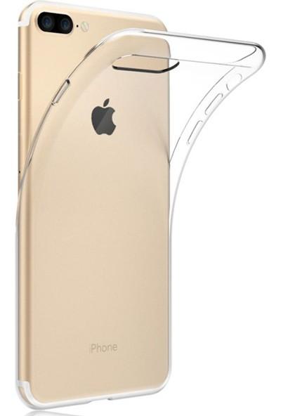 Case 4U Apple iPhone 7 Plus-8 Plus Kılıf Ultra İnce Silikon Şeffaf